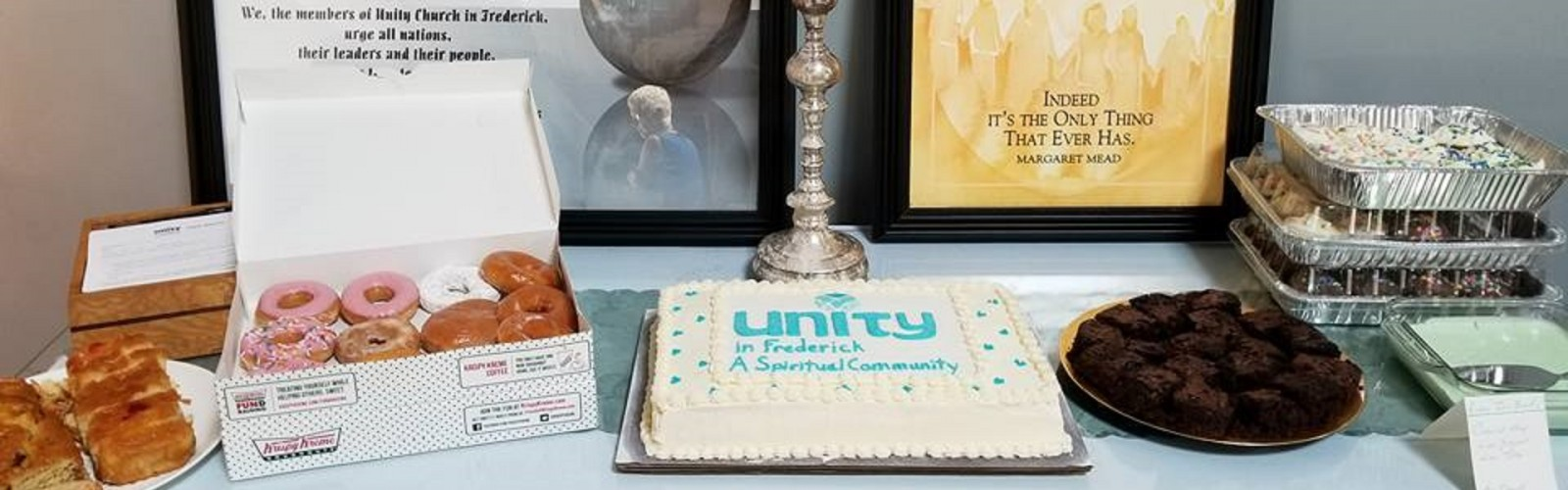 Dedication cake and desserts - Unity in Frederick