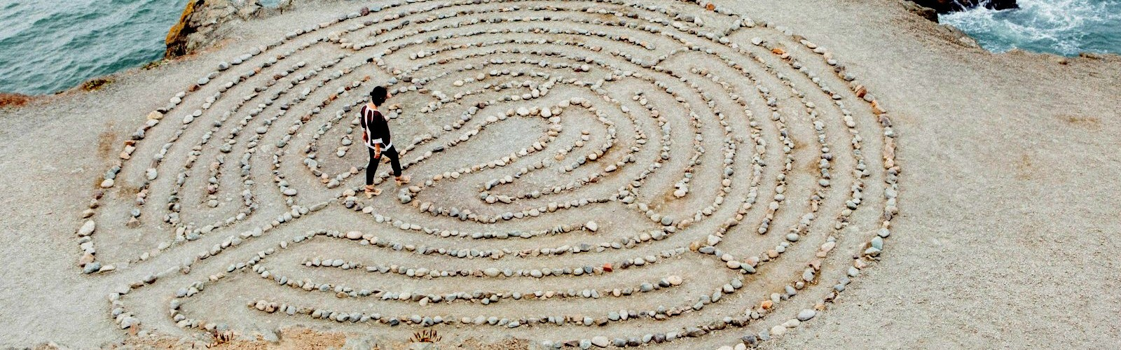 Labyrinth on beach