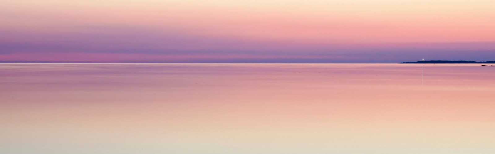 Calm sea at sunset