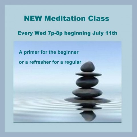 New meditation class Wed 7p