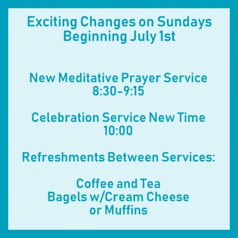 Sunday Services Changes