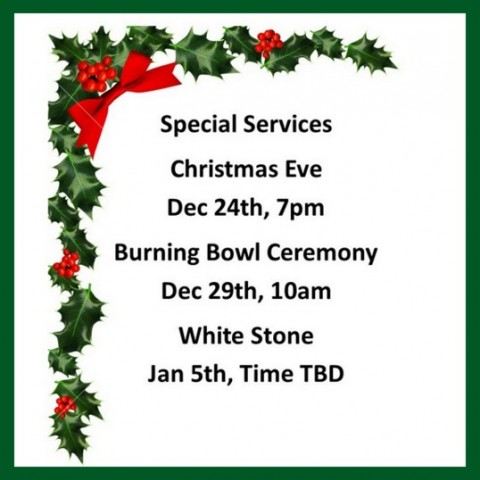 Special Holiday Services