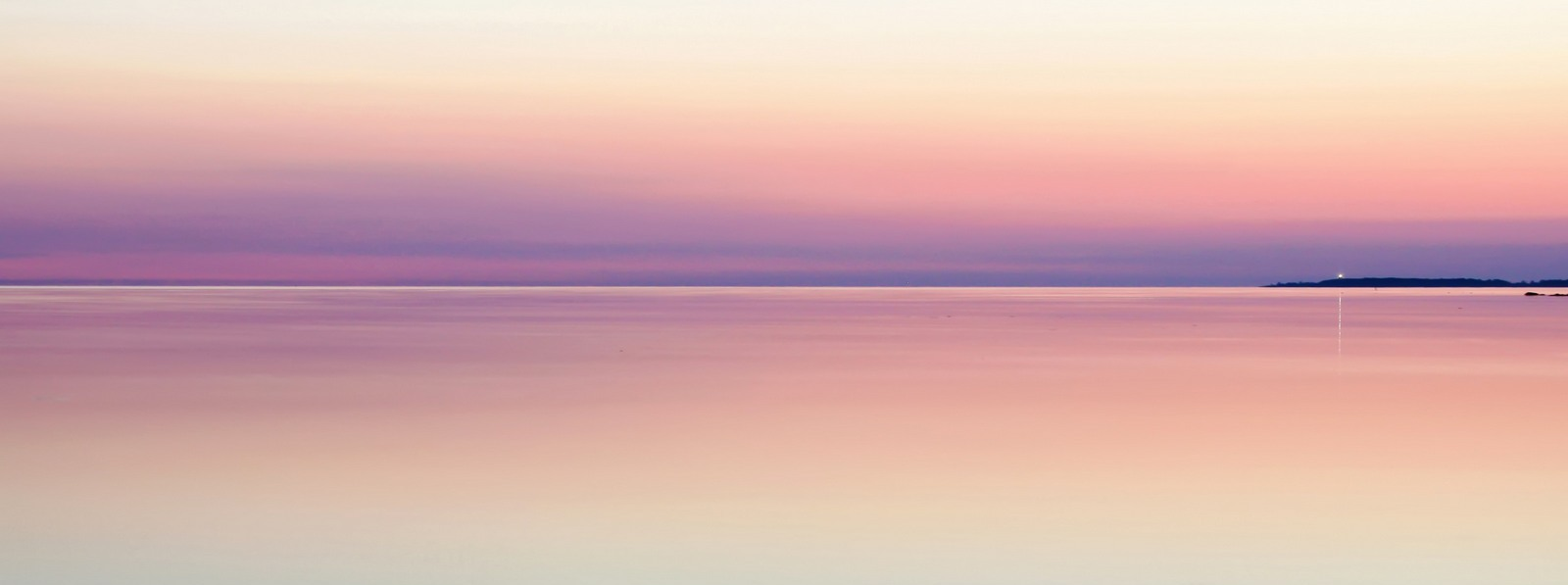 Sunset calm water